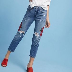 NWT!! Levi's embroidered jeans roses flower summer